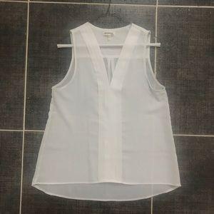 Monteau white sleeveless blouse